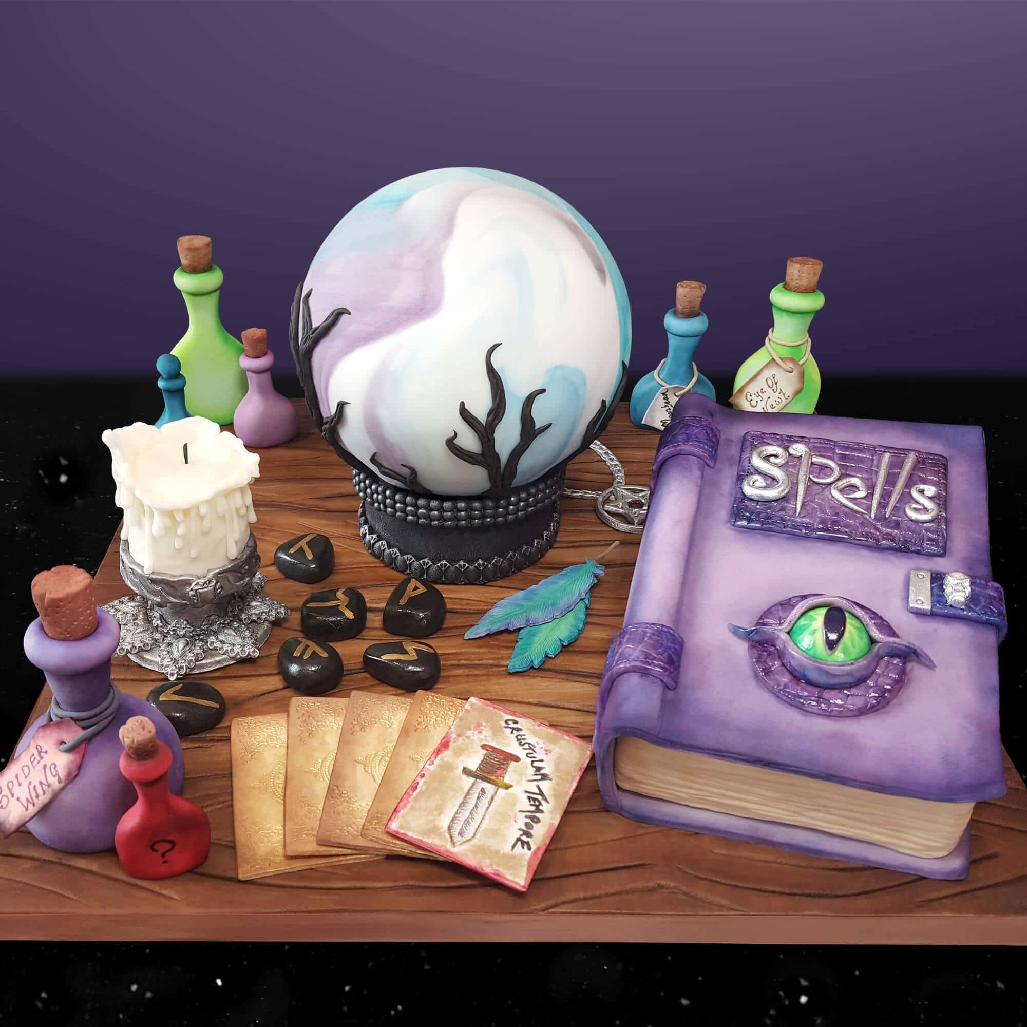 The witch's table cake design by Cake No Mistake