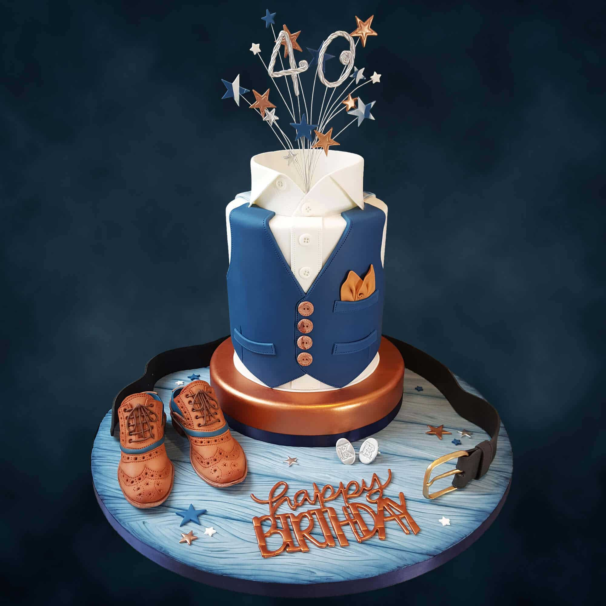 Terrific Gentlemans 40Th Birthday Cake Designed By Cake No Mistake Craft Funny Birthday Cards Online Elaedamsfinfo