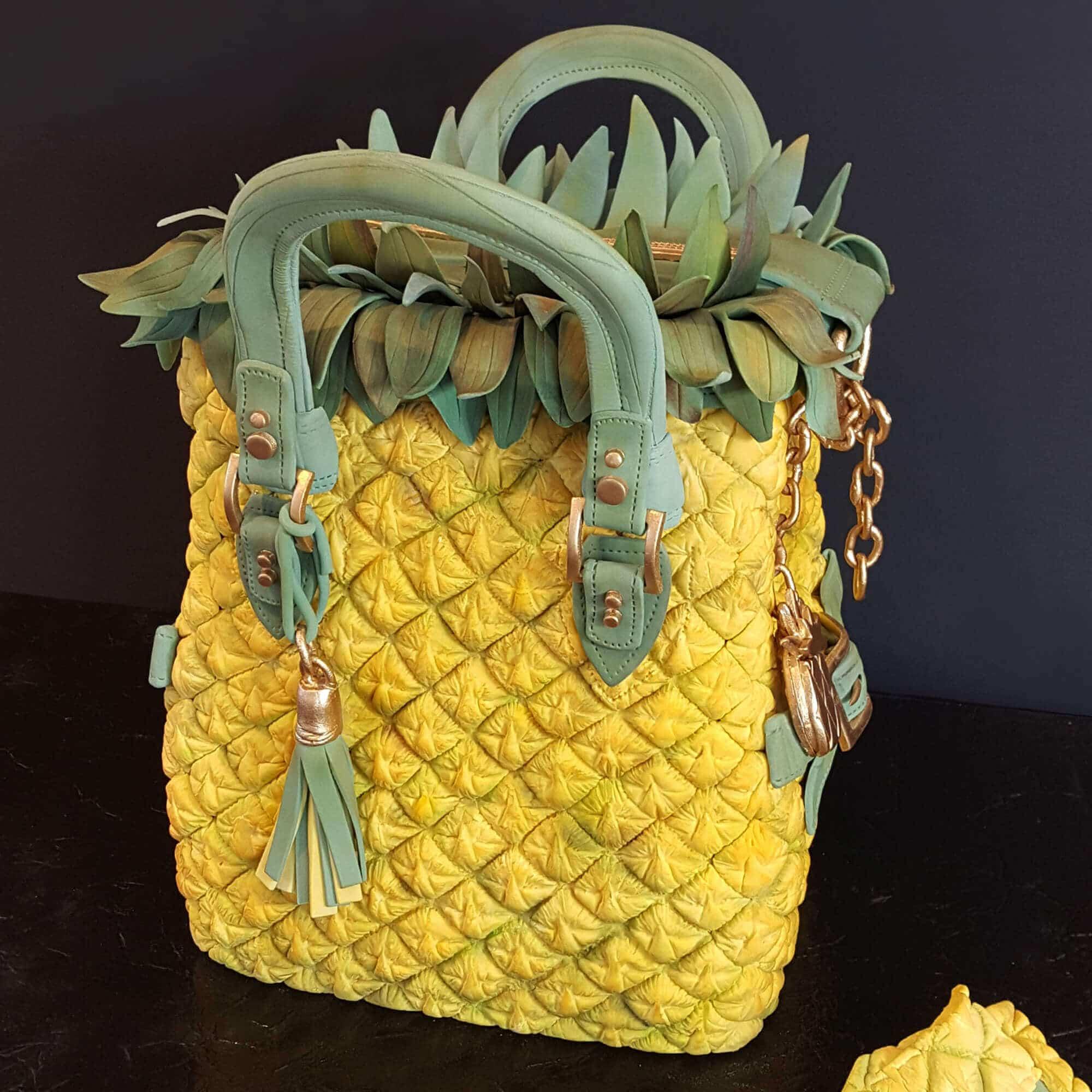 Pineapple handbag cake made by Cake No Mistake