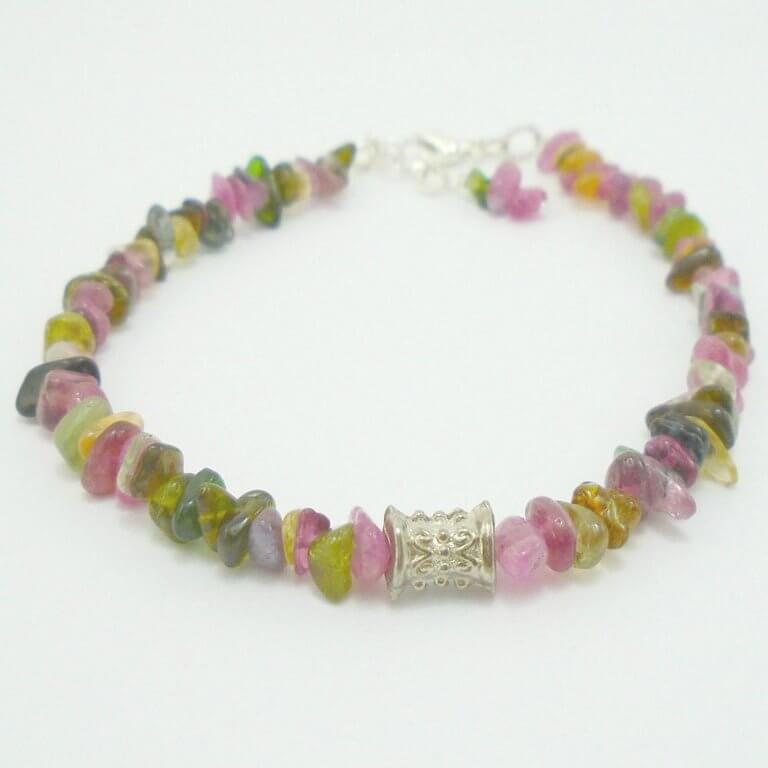 A gorgeous pink and green bracelet designed and made by our Crafter in the Spotlight, K8tieSparkles.