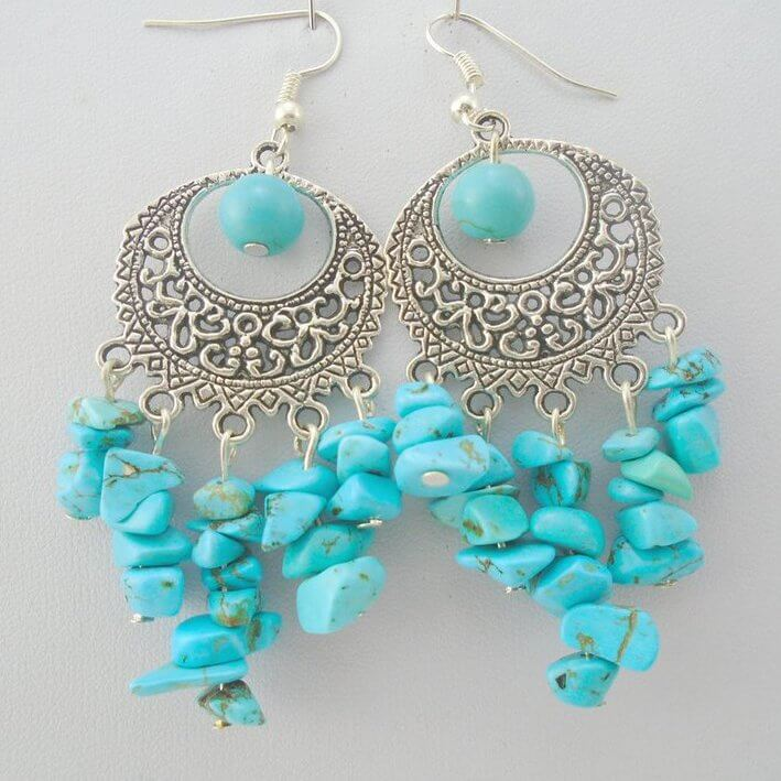 A pair of beautiful earrings designed and made by our Crafter in the Spotlight, K8tieSparkles.