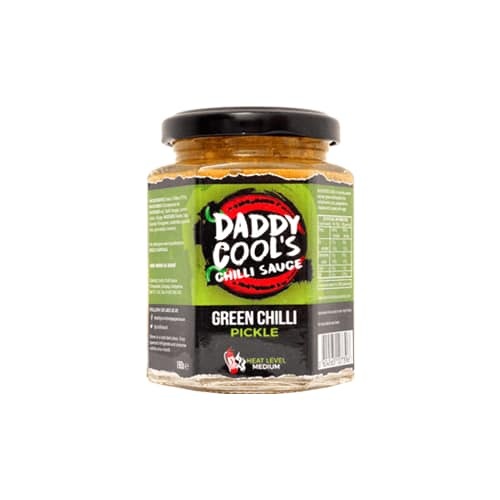 Green Chilli Pickle by Daddy Cool's Chilli Sauce.