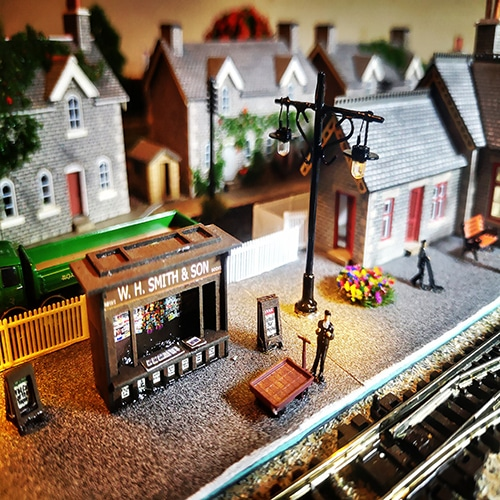 A vintage suitcase train created by our Crafter in the Spotlight.