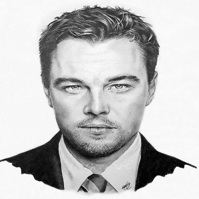 Sketch of Leonardo DiCaprio by KGee Art.