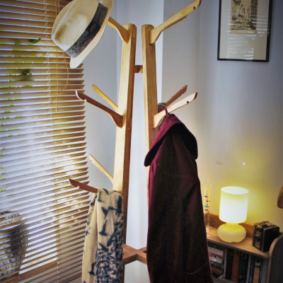 A beautiful handmade wooded coat stand by Marc Wood Bespoke Joinery.