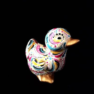 Cute ceramic duckling made by one of our Crafter in the Spotlights, Hazlehurst Ceramis.